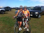 Laura and Carole finishers of 100 Mile Seacoast Century 2011