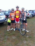Elise, Laura, Sean and Carole at the start